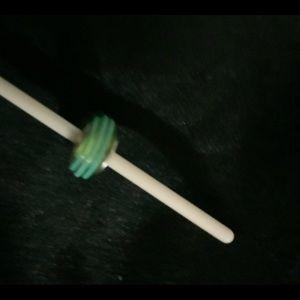 Green glass Pandora bead